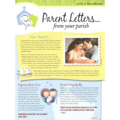 Parent Letters from Your Parish, Revised