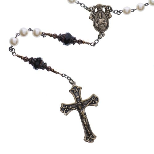 Pearl Sacred Heart Rosary