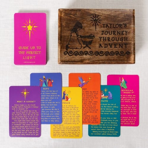 Advent Card Gift Set for Kids