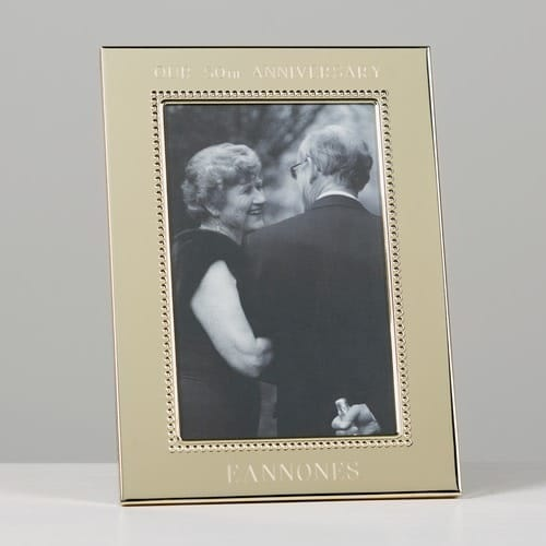 Personalized Anniversary Beaded Frame