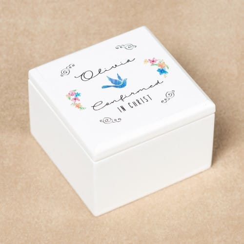 Personalized Boho Floral Confirmation Keepsake Box