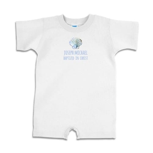 Personalized Boy's Baptized in Christ Romper