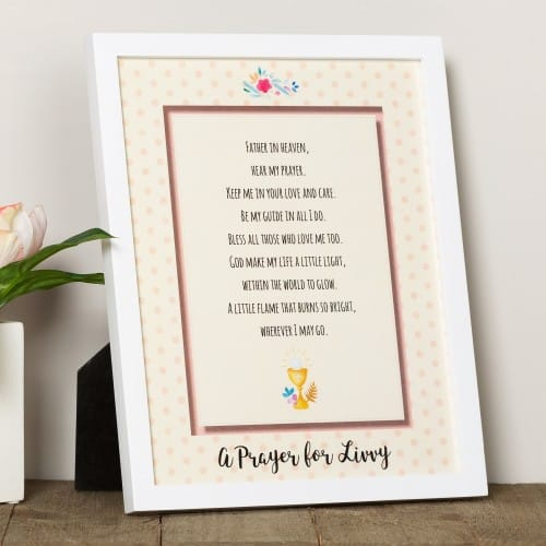 Personalized First Communion Framed Prayer - Girl