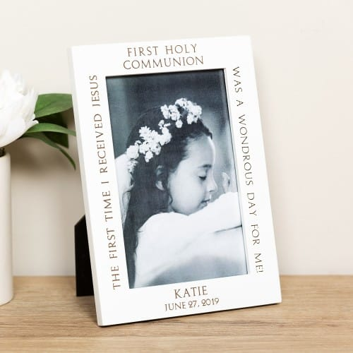 Personalized First Holy Communion Ivory Frame The Catholic Company