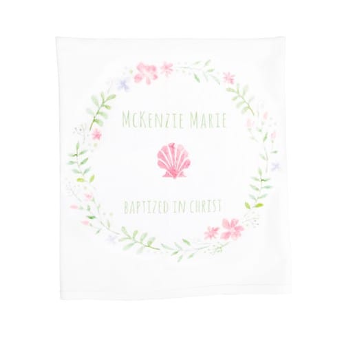Personalized Girl's Baptism Baby Blanket