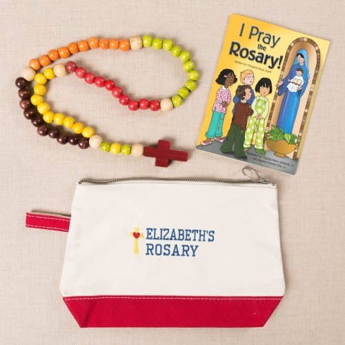 Personalized Kiddie Rosary Canvas Mass Bag