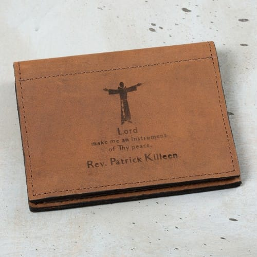Personalized Saint Francis Prayer Card Holder