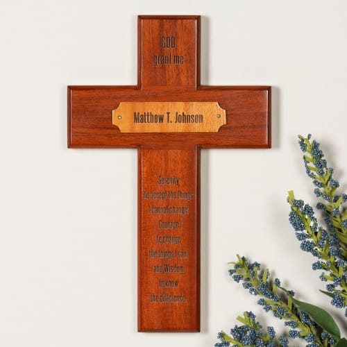 Personalized Serenity Prayer Wood Cross