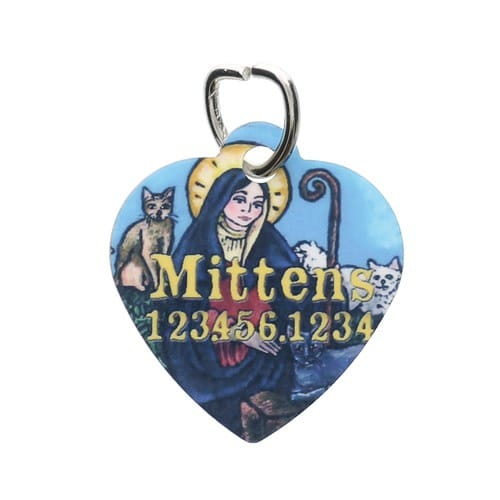Personalized St. Gertrude Cat Tag