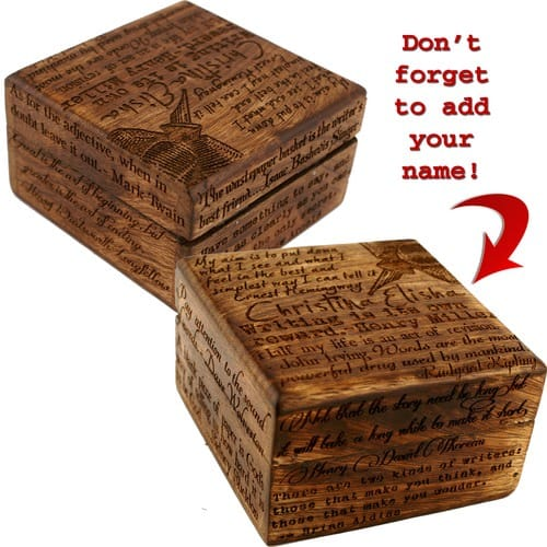 Personalized Keepsake Box for Writers