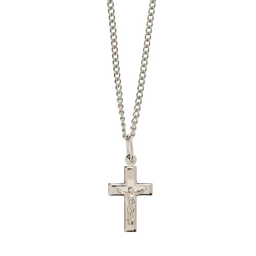Petite SS Crucifix Necklace
