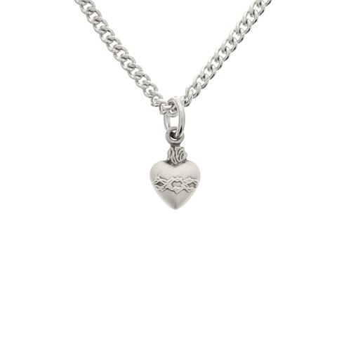 Petite sacred heart sterling pendant the catholic company petite sacred heart sterling pendant aloadofball Images
