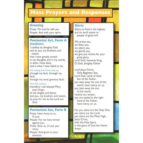 Pew Card - Revised Order of the Mass, Large Print Edition (Pkg of 50)
