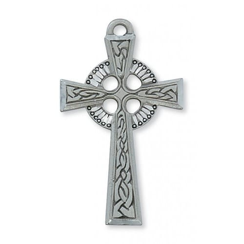 Pewter Celtic Cross with 24 inch chain