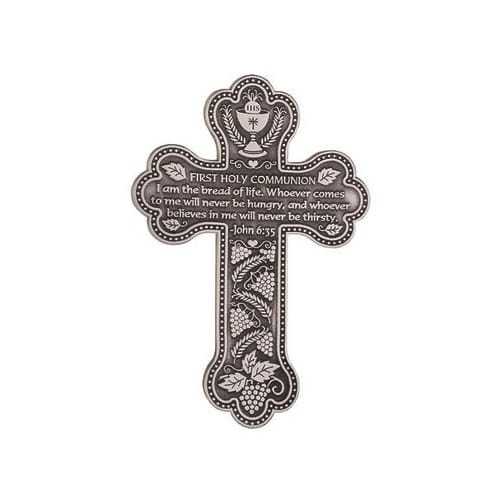 Pewter Communion Wall Cross - 5.5 inch
