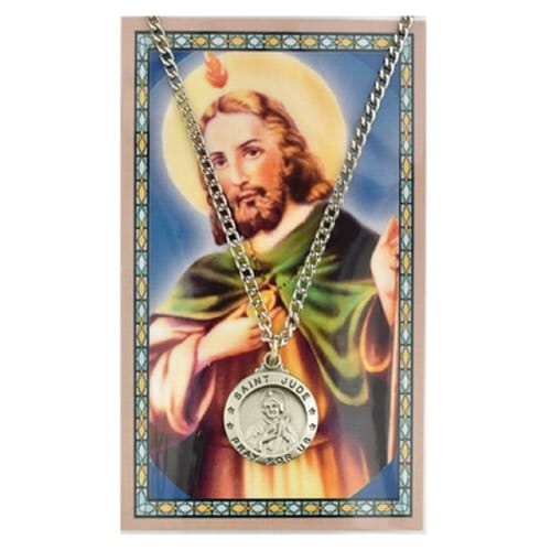 Pewter St. Jude Medal with Prayer Card