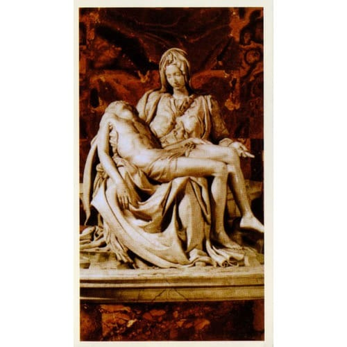 Pieta Personalized Prayer Card (Priced Per Card)