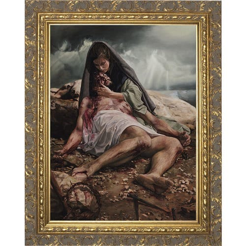 Pieta w/ Ornate Gold Frame