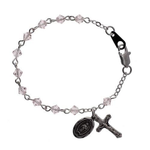 Pink Baby Rosary Bracelet