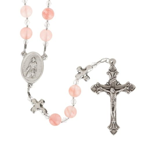 Pink St. Peregrine Rosary