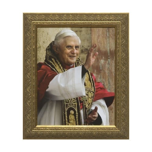 Pope Benedict Blessing w/ Gold