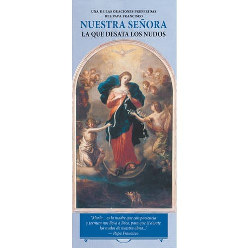 Pope Francis and Our Lady Undoer of Knots Pack of 50, Spanish