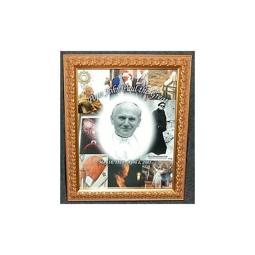 Pope John Paul The Great Collage Framed Print (8x10)