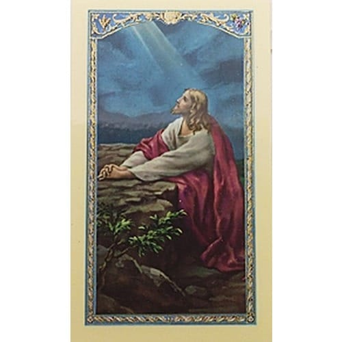 The Power Of Prayer - Christ in Garden - Prayer Card