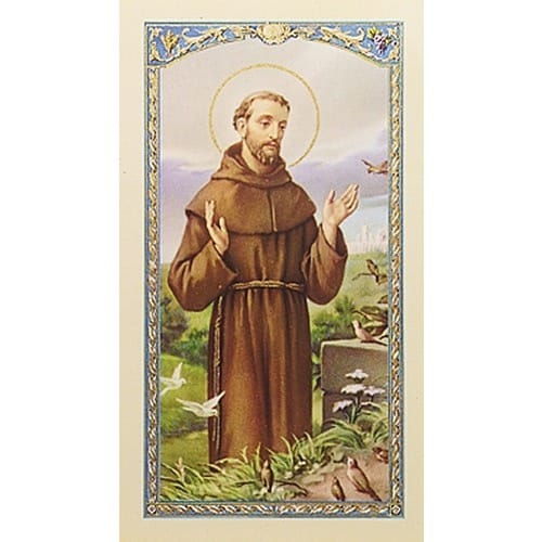 Prayer for my Pet - St. Francis of Assisi Prayer Card