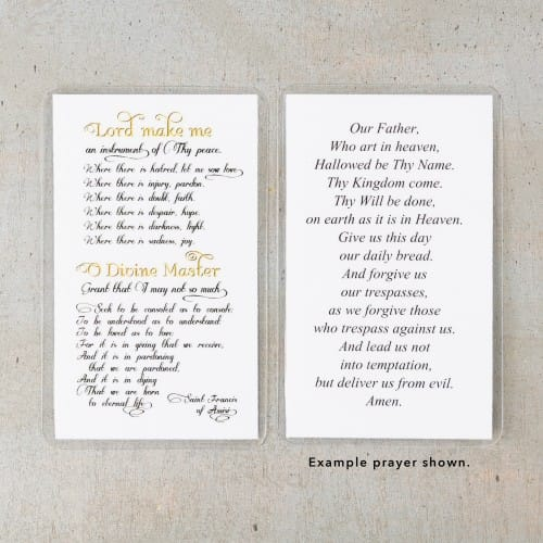 Prayer of Saint Francis Personalized Prayer Cards