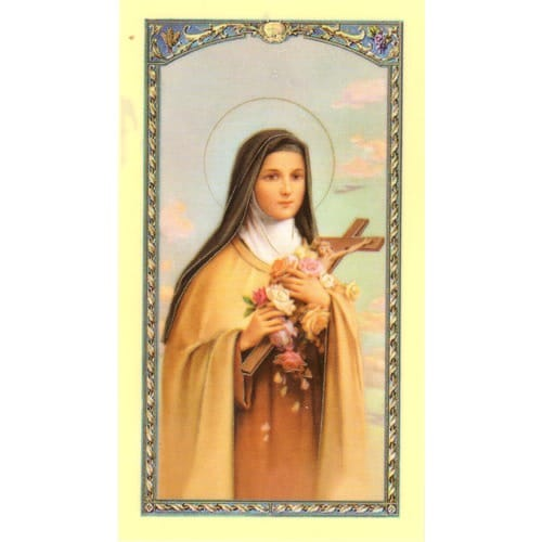 St. Therese of the Child Jesus - Prayer Card