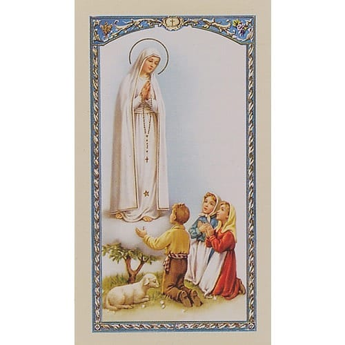 Prayer to Our Lady Of Fatima - Prayer Card