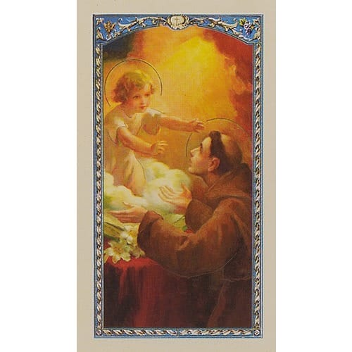 Prayer To Recover Things – Lost or Stolen – O Blessed St. Anthony! - Prayer Card