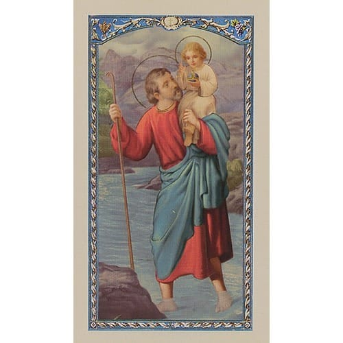 Prayer to St. Christopher - Prayer Card