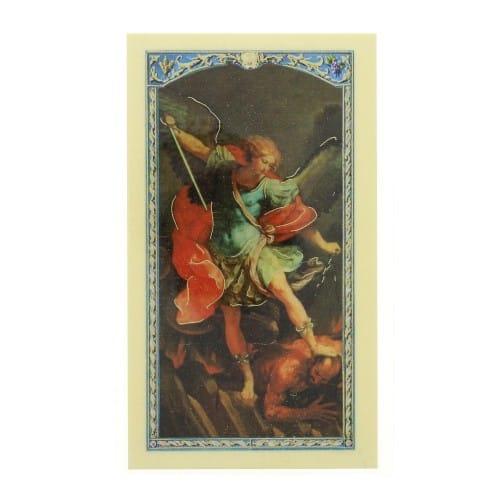 Prayer to St  Michael the Archangel - Prayer Card