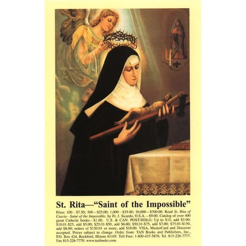 The Prayer to St. Rita Prayercard (Pack of 100)