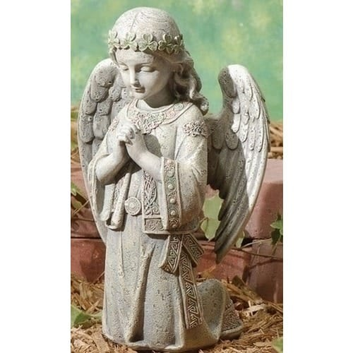 Praying Angel Kneeling Garden Figure, 12.25 Inches