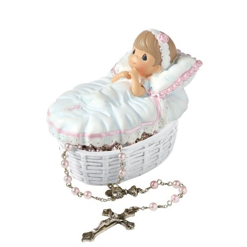 Precious Moments Baptism Rosary Set for Girls