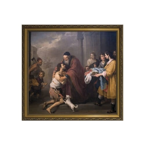 Prodigal Son by Murillo w/ Gold Frame