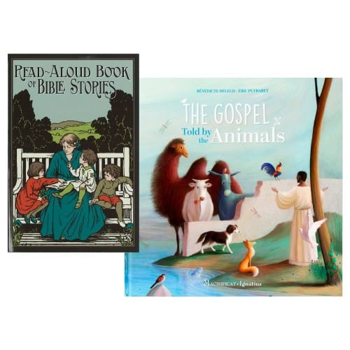 Read-Aloud Book of Bible Stories & The Gospel Told by the Animals (2 Book Set)