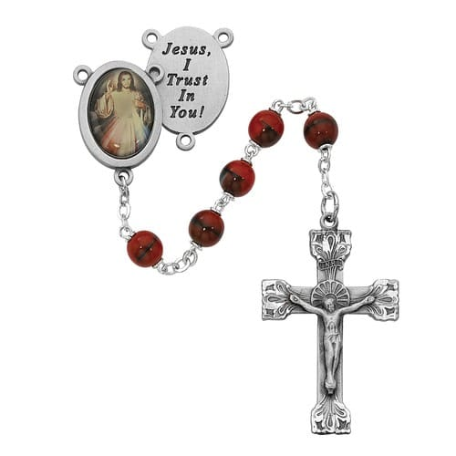 Red and Black Divine Mercy Rosary