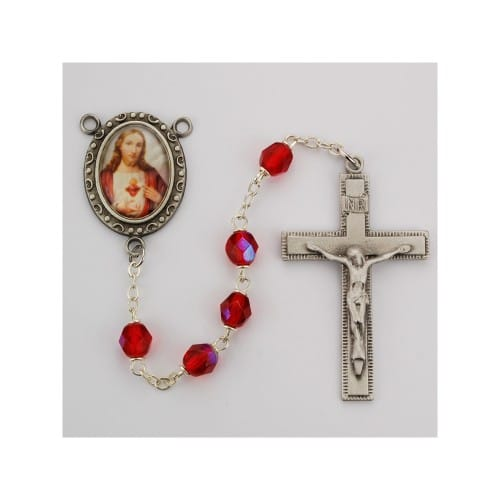 Red Aurora Sacred Heart Rosary