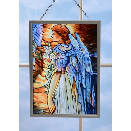 Resurrection Angel Stained Glass