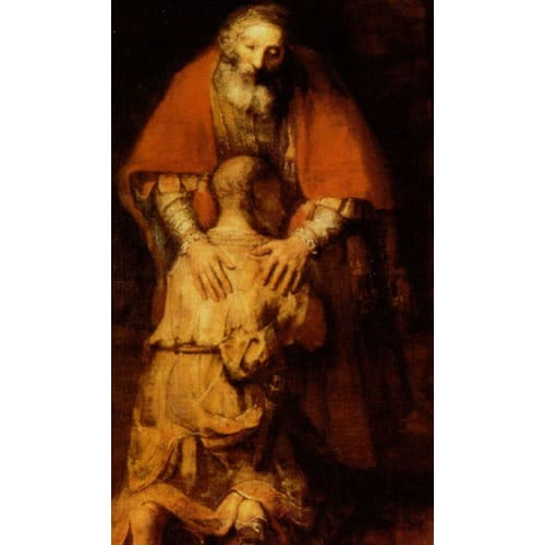 The Return of the Prodigal Son Personalized Prayer Card (Priced Per Card)