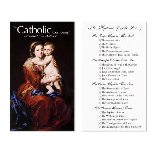 Rosary Mysteries Prayer Card
