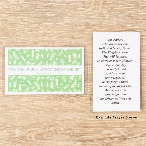 run and not grow weary personalized prayer card the catholic company