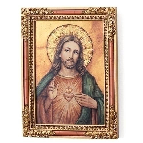 Sacred Heart Icon Wall Plaque