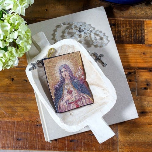 Sacred Heart & Immaculate Heart Rosary Pouch
