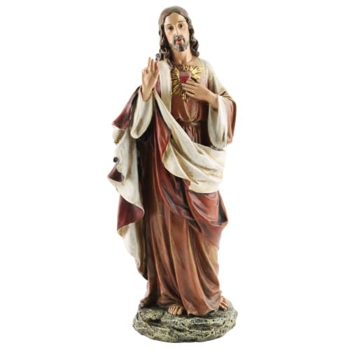 Sacred Heart of Jesus Figure - 10.25 inch