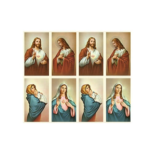 Sacred Heart of Jesus-Immaculate Heart of Mary Personalized Prayer Card (Priced Per Card)
